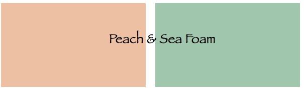 peach and sea foam