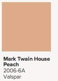 valspar peach
